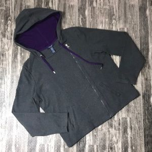 Gray Chaps XL zip up sweatshirt top